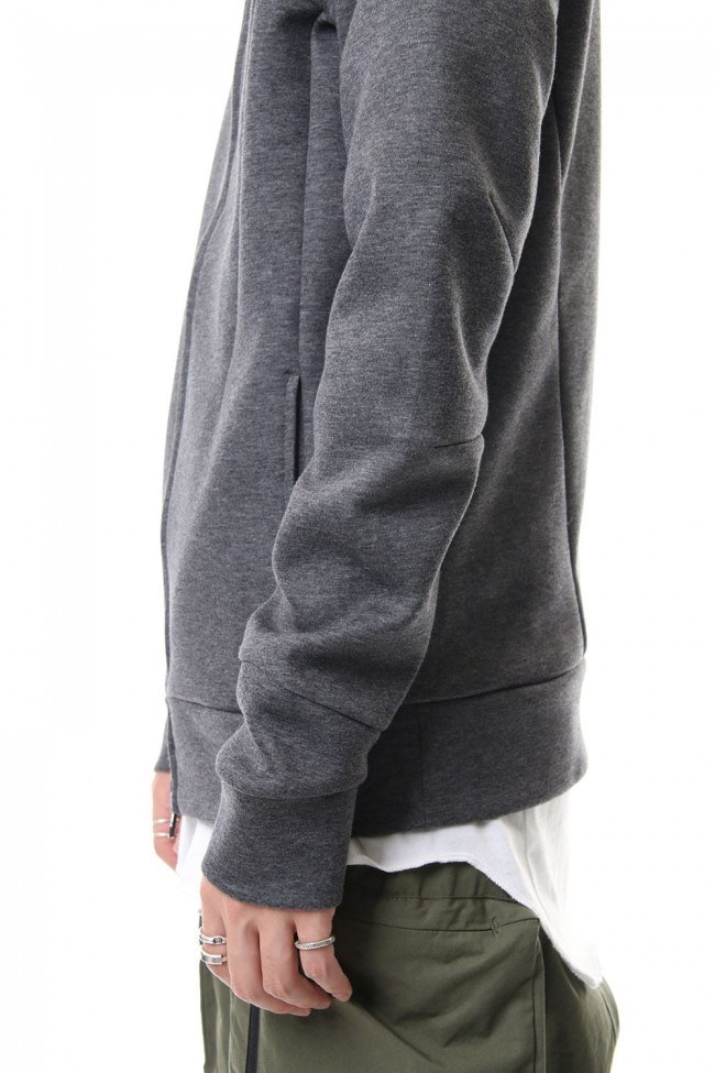 ZIP UP PARKA T.CHARCOAL