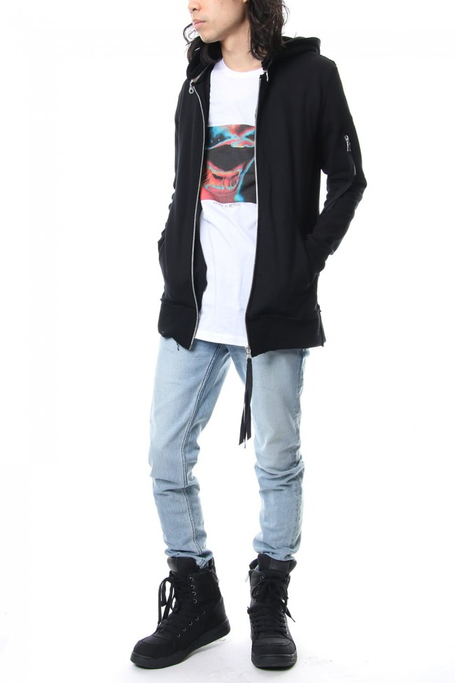 Removable hoodie blouson - Black