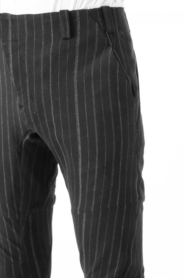 Slim Pants Random Stripe Cotton