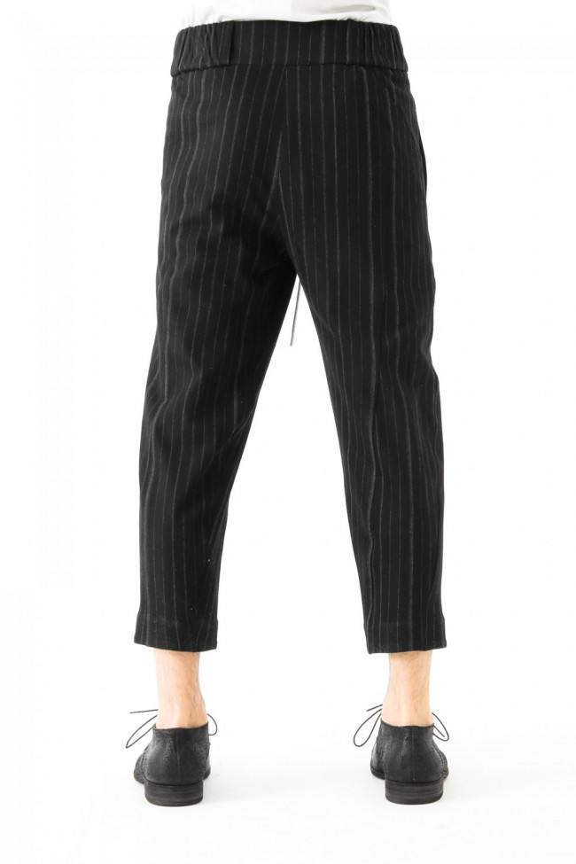 Cropped Pants Random Stripe Cotton
