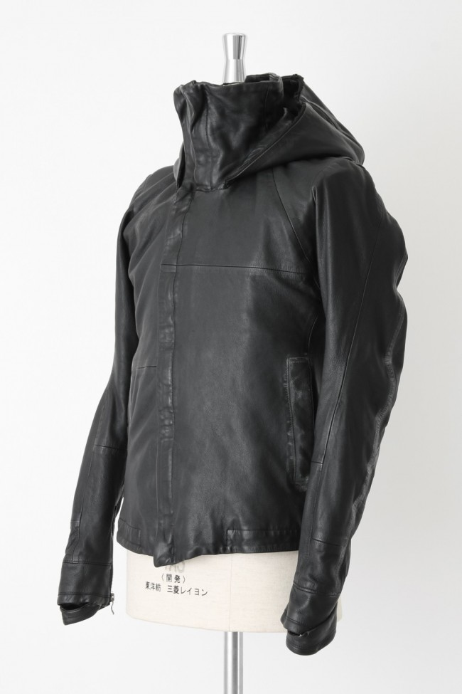Sheep Leather Hooded Jacket
