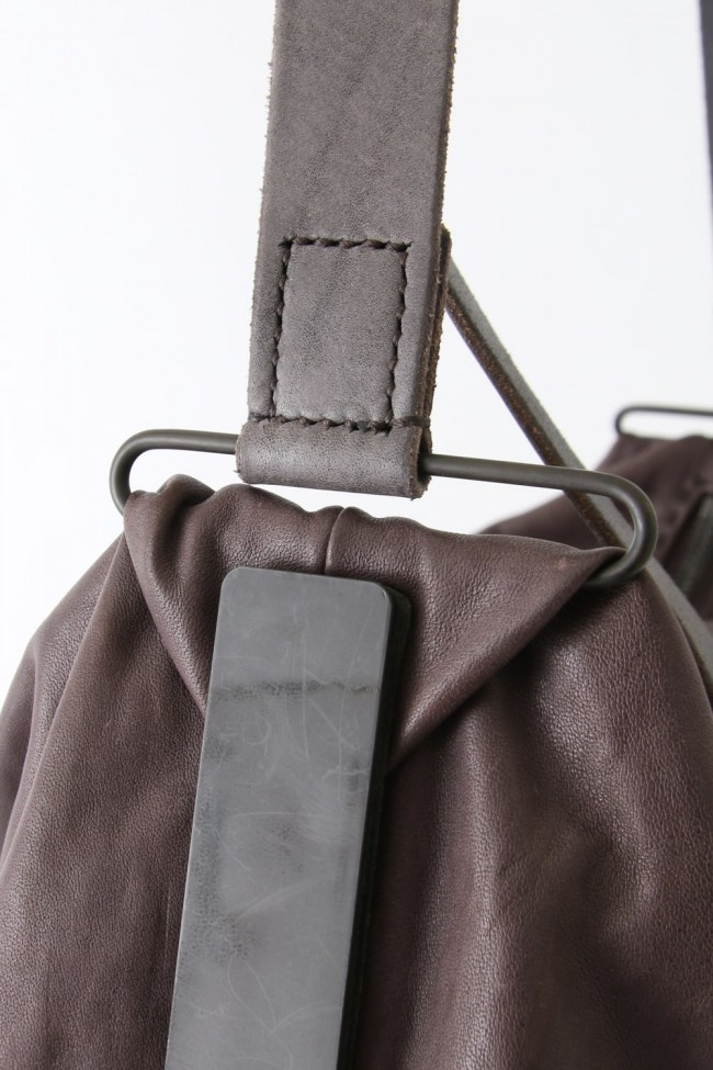 Leather Bag Guidi Horse Size L