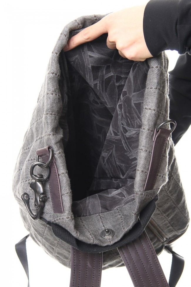 Backpack Fabric & leather