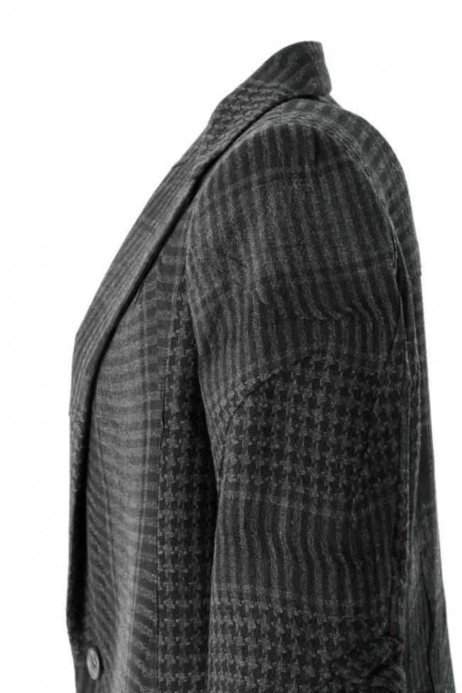Distorted Check Needle Punch Coat - 07-C01
