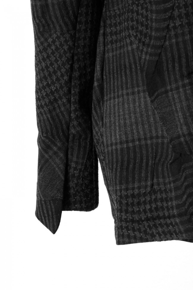 Distorted Check Needle Punch Jacket - 07-J02