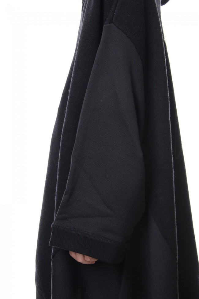 W Knitted Hooded Dress