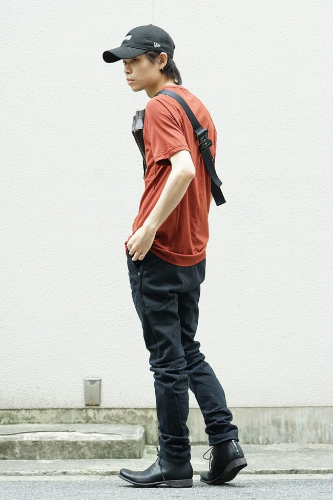 Uneven Yarn Selvedge Denim Slim pants