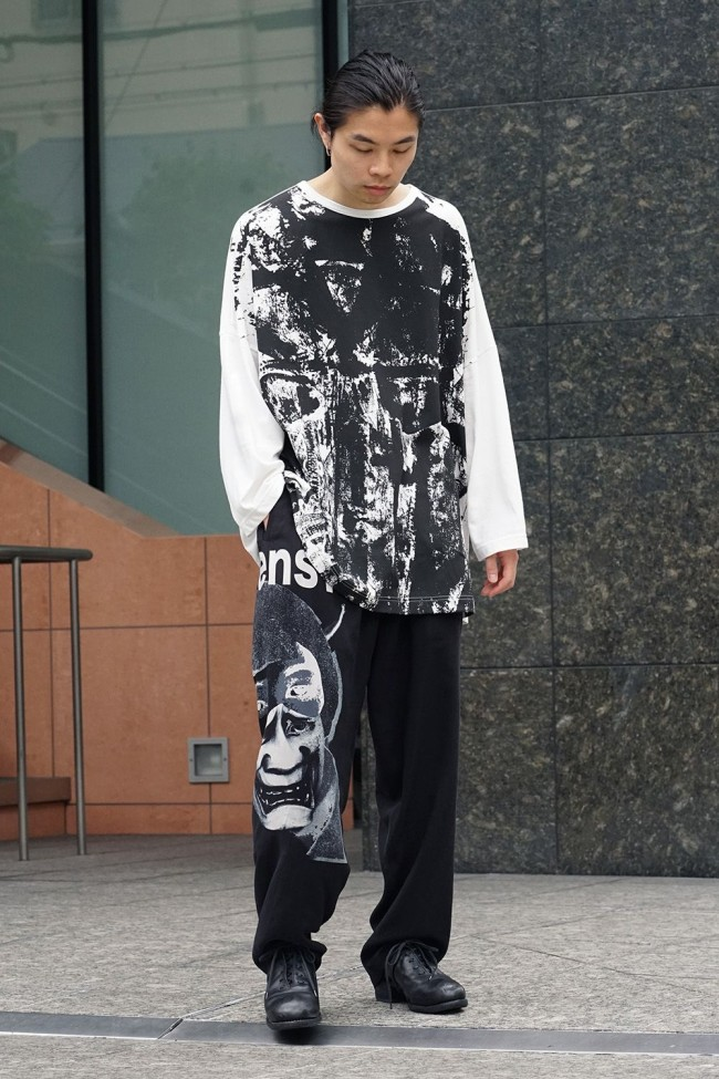 Switch roller print long sleeve T-shirt   NV-T55-071