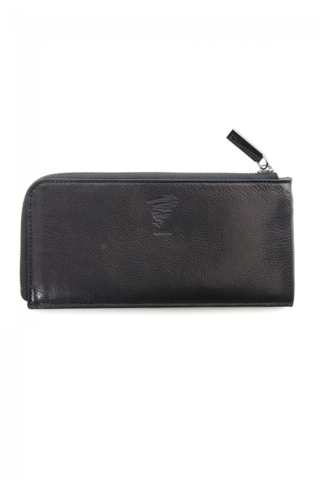Antique leather compact long wallet - DV-A08-703