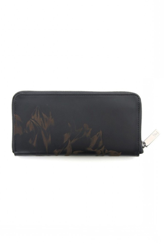 Laser graphics leather long wallet - DV-A10-712