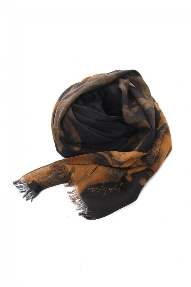 Dahlia Grilled Stole Wool Discharge - DV-L12-104