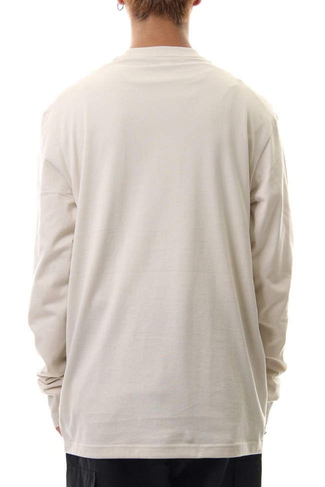 Stacked Logo Long Sleeve Tee Ecru