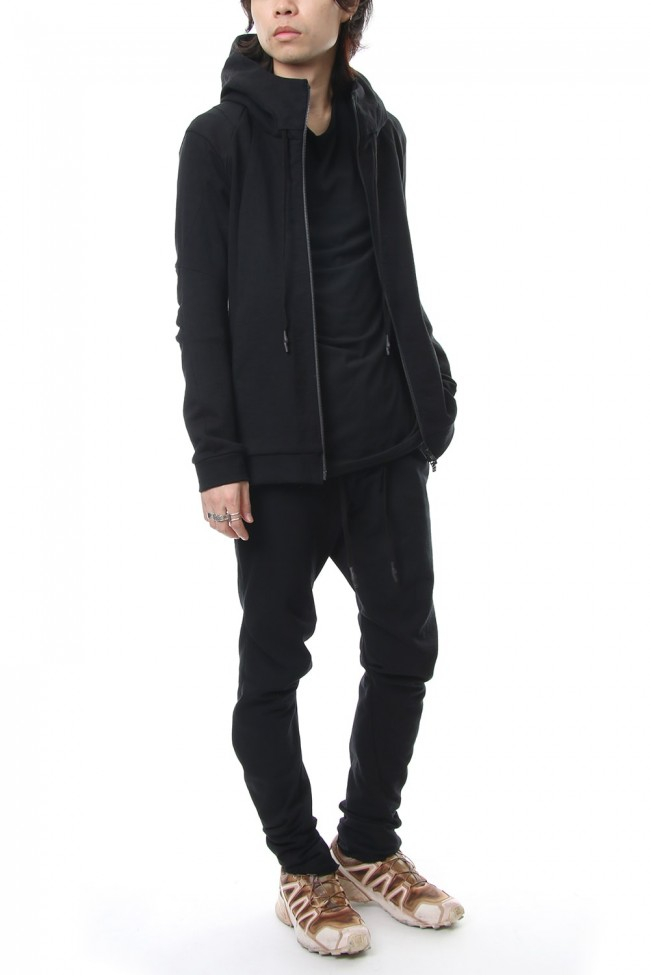 Hooded Jacket Cotton Jersey - Black