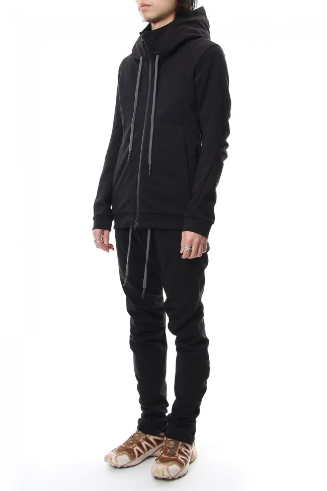 Hooded Jacket Cotton Jersey - Charcoal