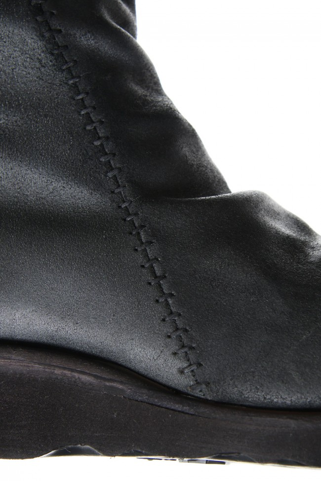 Long Boots Reverse Calf Leather (GUIDI)