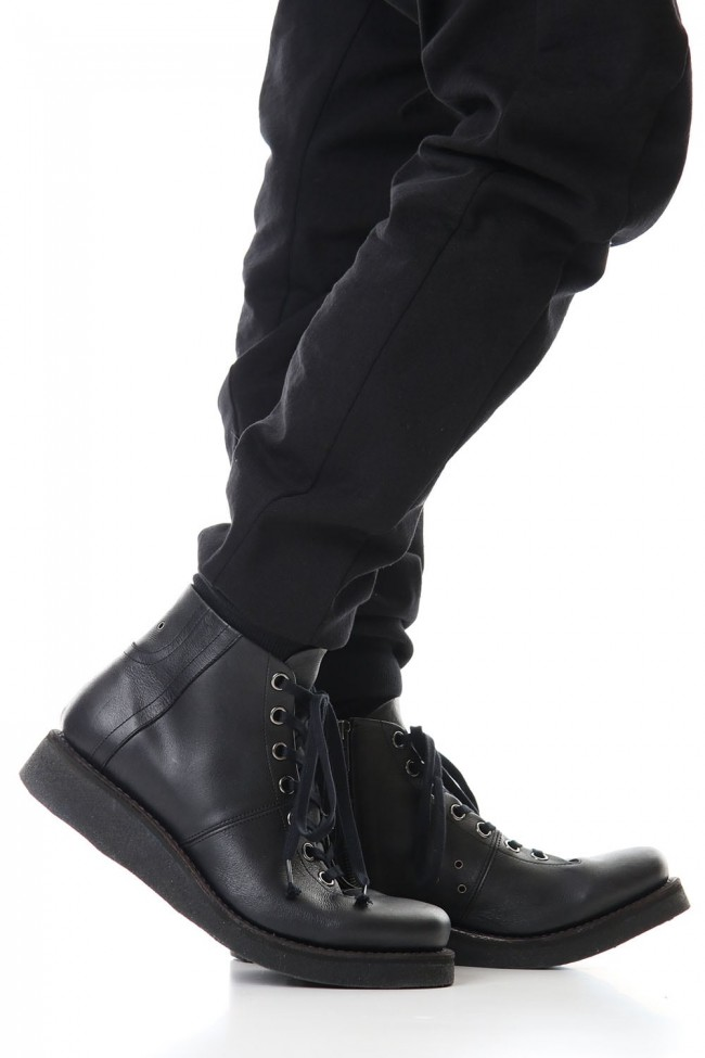 Monkey boots Kudu leather - Black