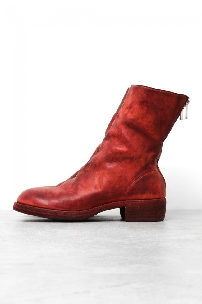 d9914fa02 Back Zip Boots Double Sole - Horse Full Grain Leather - Guidi