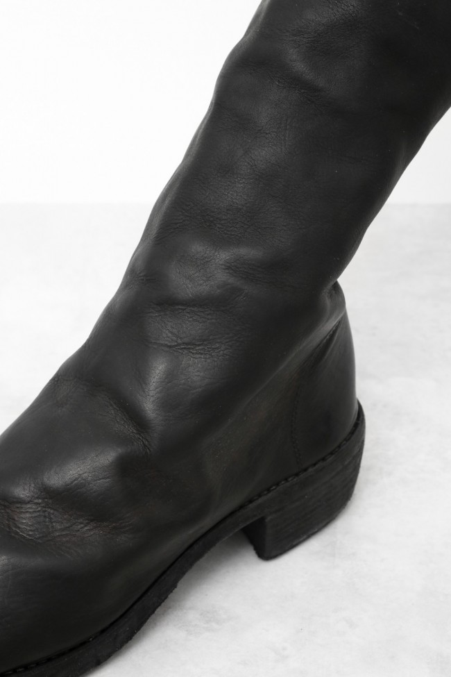 Side Zip Long Boots Double Sole - Calf Full Grain Leather