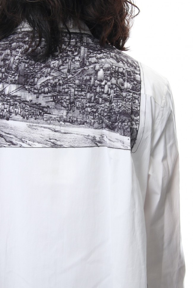 Neck Cutting Shirt Ghost In The Shell - Ground Y
