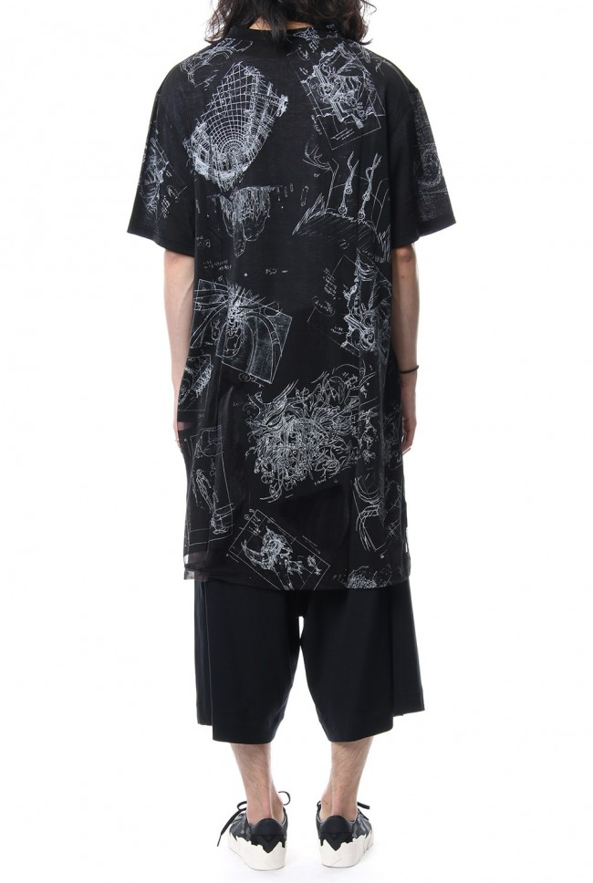 Uneven short sleeve Cut-Sew Ghost In The Shell - Ground Y