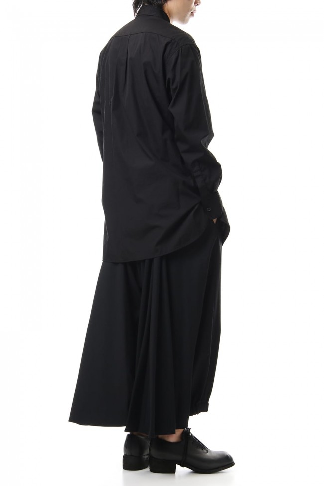 Front Switching Broad cloth Blouse Black