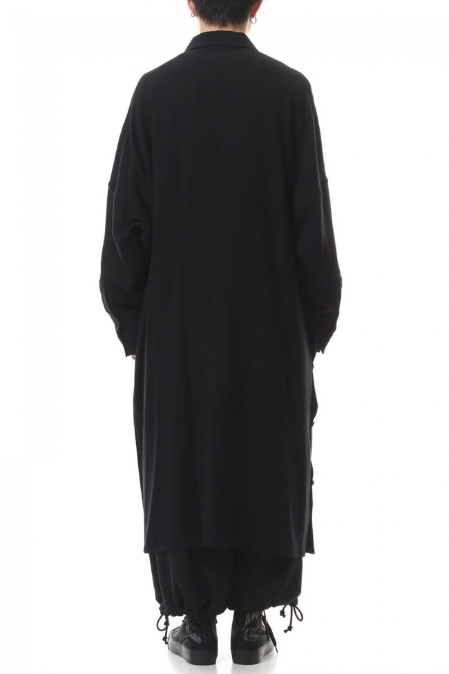 Wrap Front Stand Collar Blouse