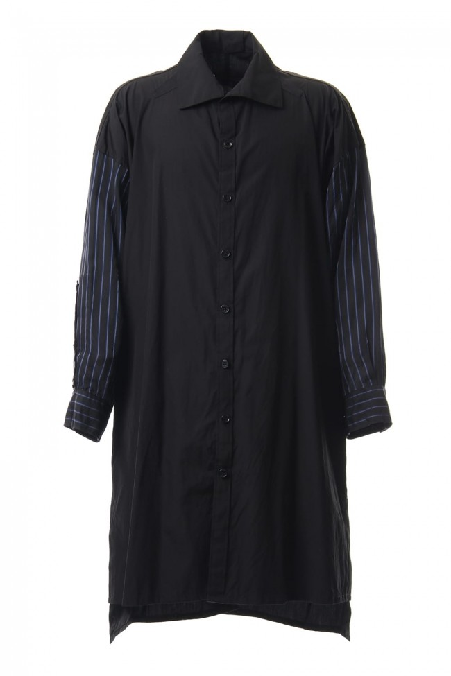 Products dyed Stripe Sleeve Shirts