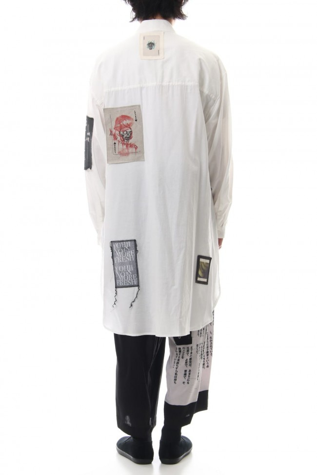Ring Sewing Broadcloth Patchwork Shirt