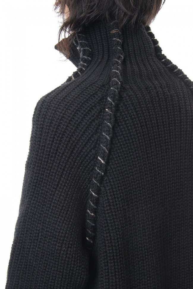 Embroidery Switching Coat