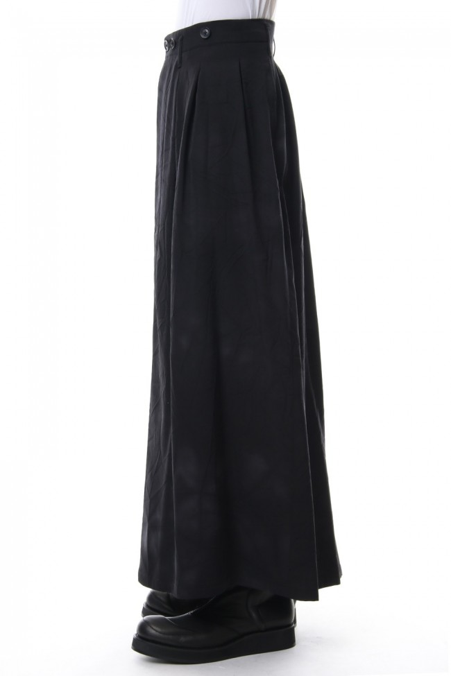 Front Pleated Uneven Dyeing Wrinkled Gabardine