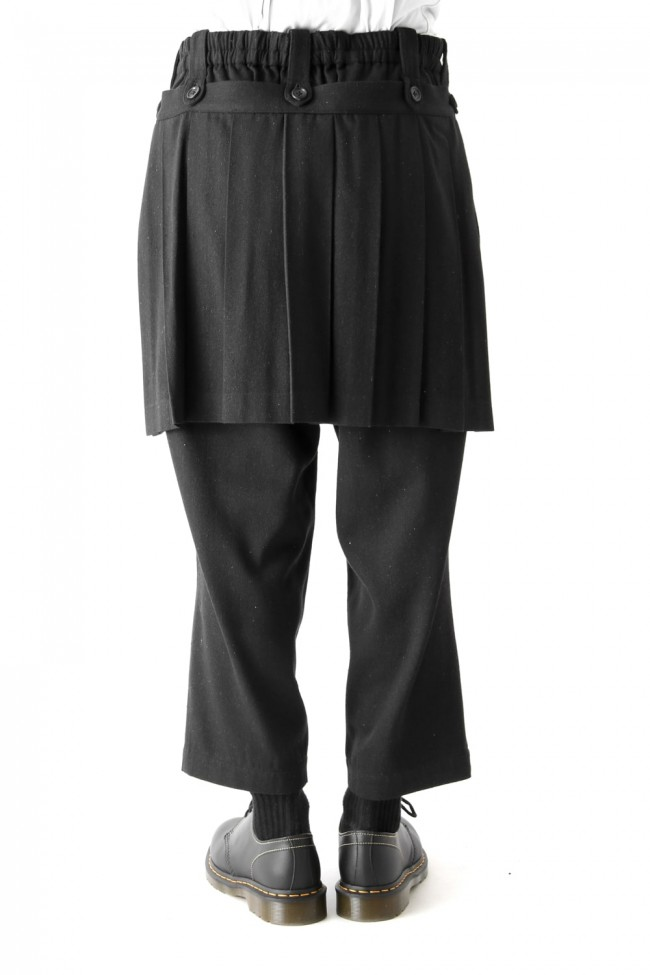 Back Pleats Slim Pants