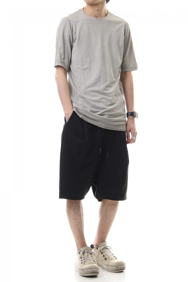 Short sleeve Japanese paper jersey Products dyed - White Gray