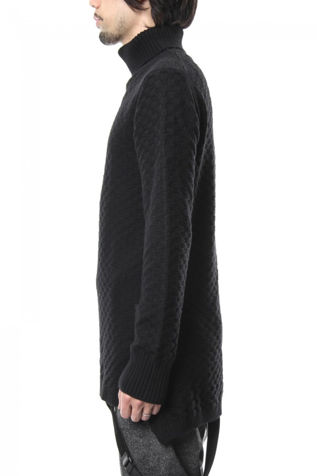 5GG Wool Cotton Long Knit RB-041 Black