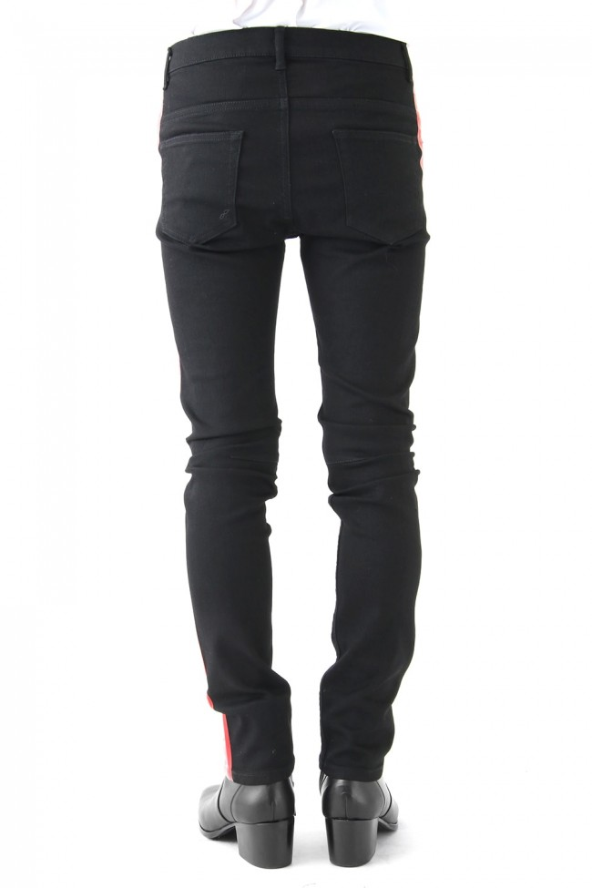 EX FIT DENIM SKINNY SIDE STRIPE RUBBER
