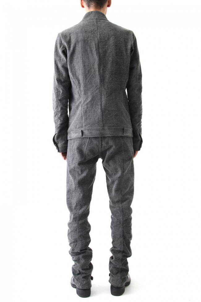 Sumi Dyed 12oz Curved Denim Pants
