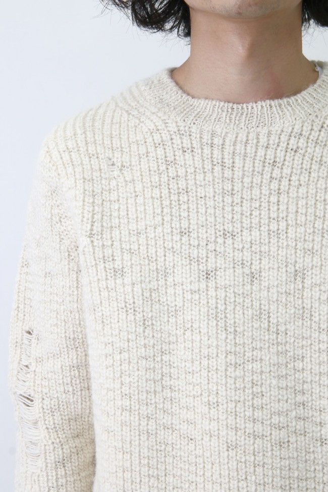 Oversized Distressed Knit