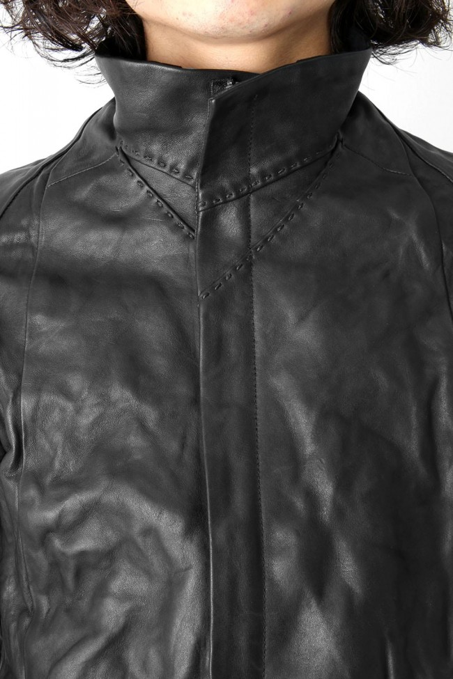 High Neck Jacket Guidi Horse Leather