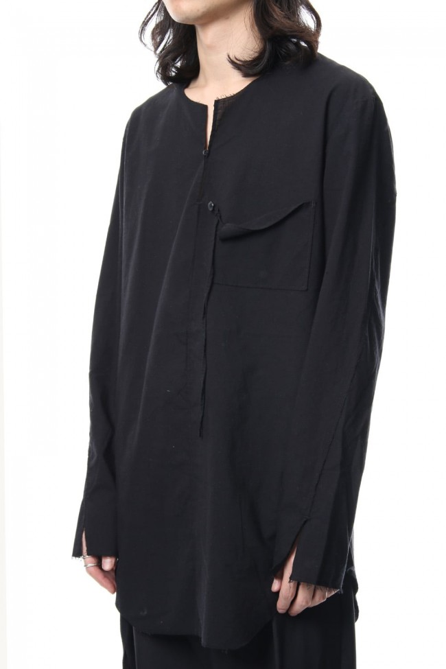 BUTTON & STRING TUNIC BLACK