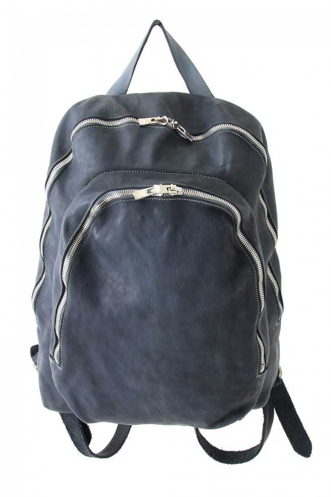 Soft Horse Leather Back Pack - DBP06 - GRAY