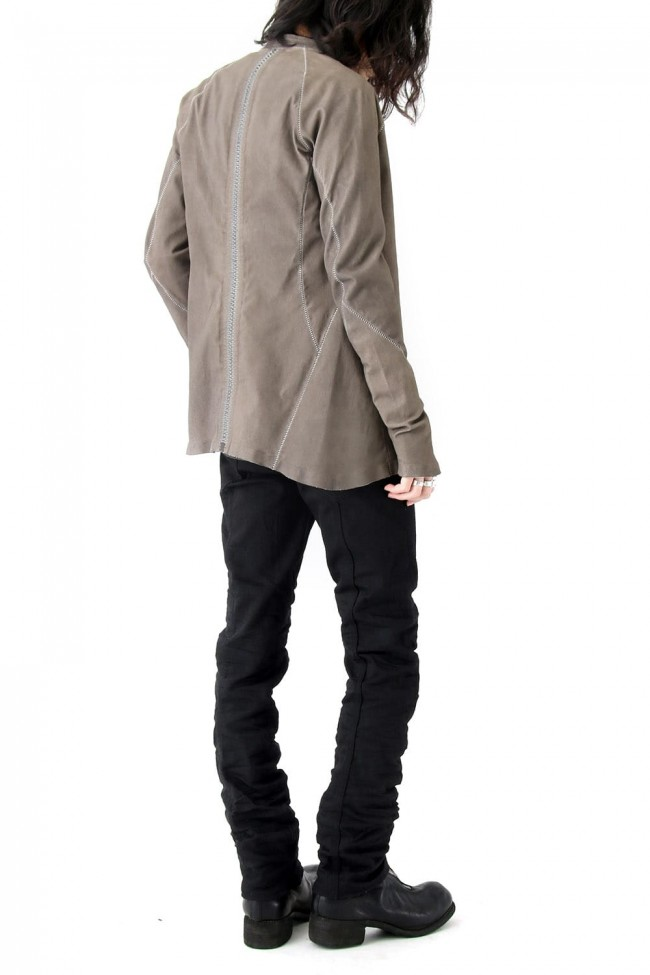Stretch Leather Shirt - ARPENTEUR ALU