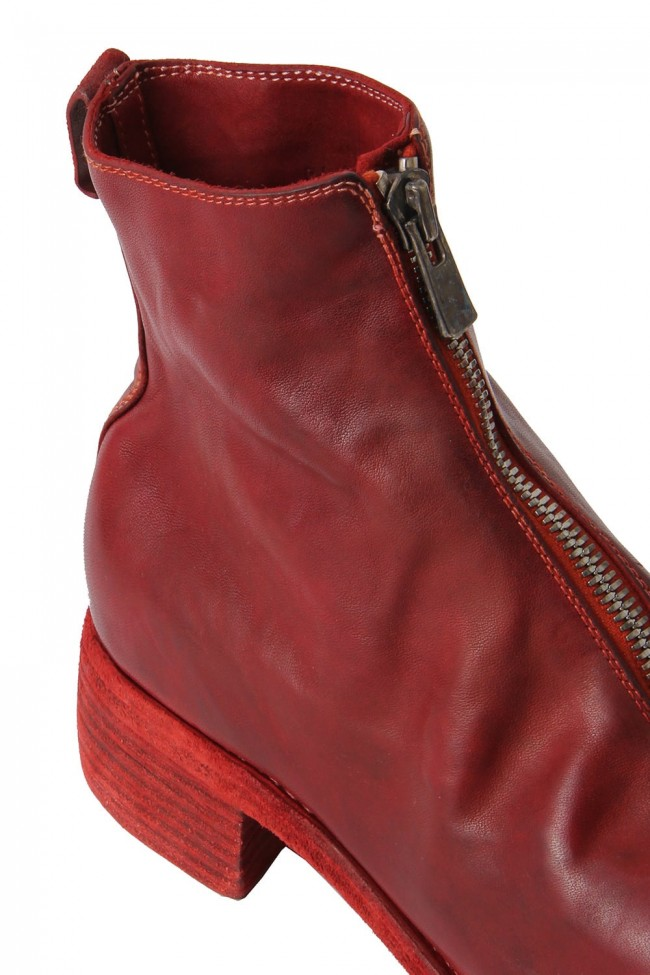 Front Zip Boots Double Sole - Horse Full Grain Leather