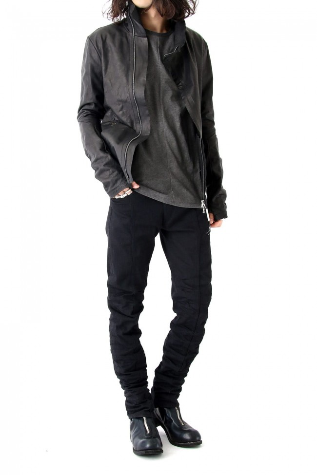 High Neck Leather Jacket  - IMPARABLE-VACHKIRI