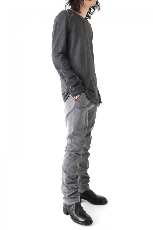 Semi curve trousers Gray
