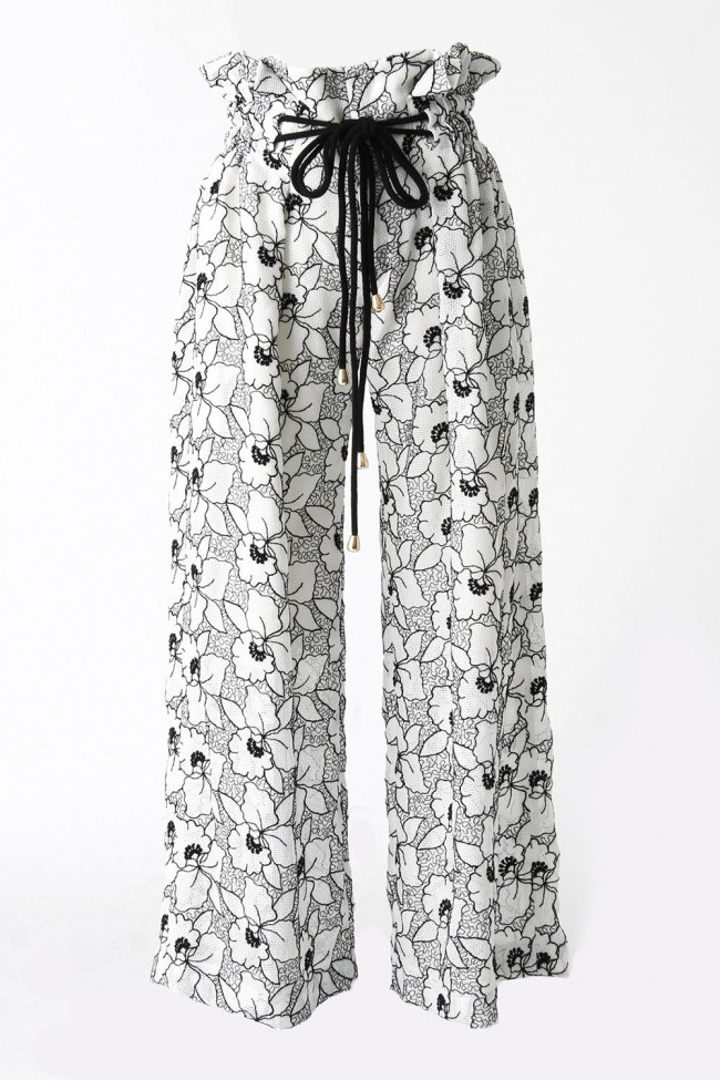 LENO LACE WIDE PANTS - SATOKO OZAWA