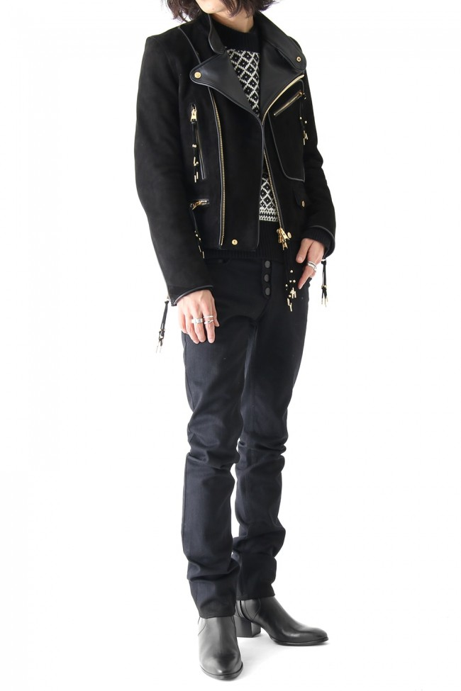 GOAT SUEDE DOUBLE RIDERS JACKET
