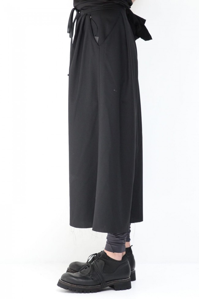 Wool poplin HAKAMA Pants