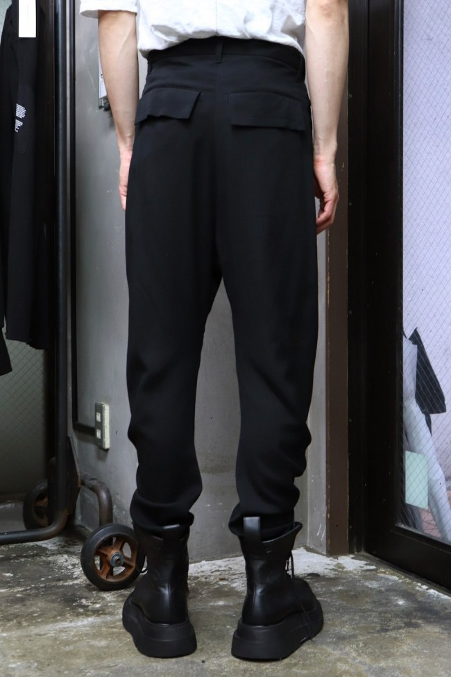 CURVED TROUSERS Black