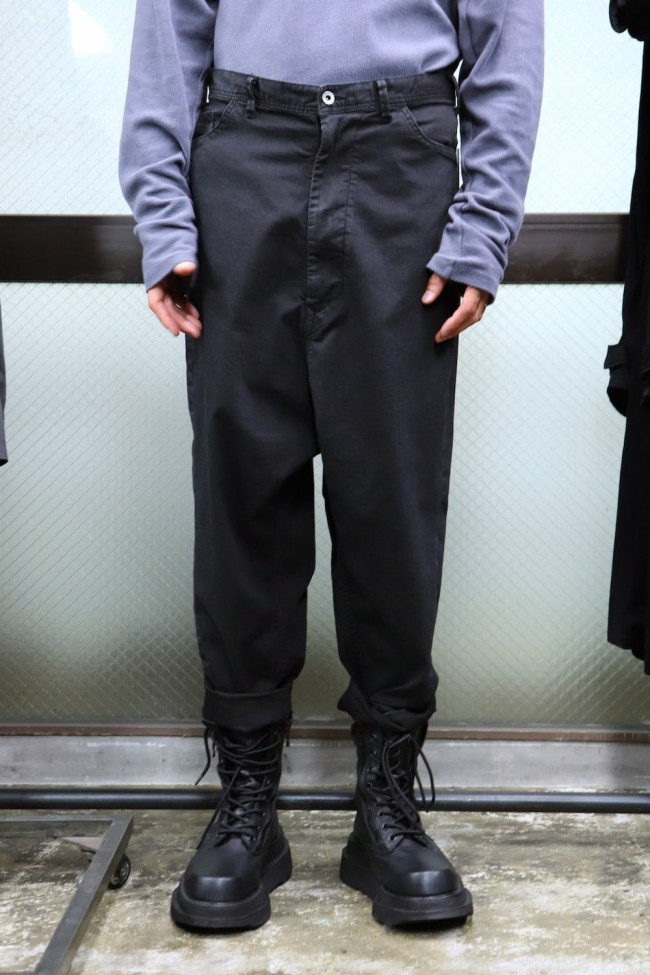 LOW CROTCH BAGGY PANTS Charcoal