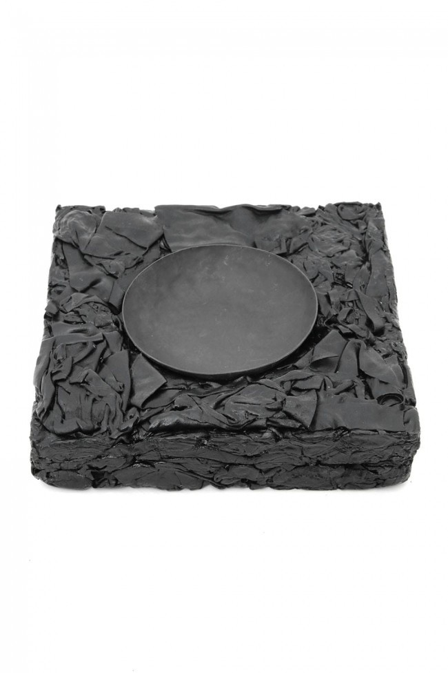 SCRAP LEATHER ASH TRAY