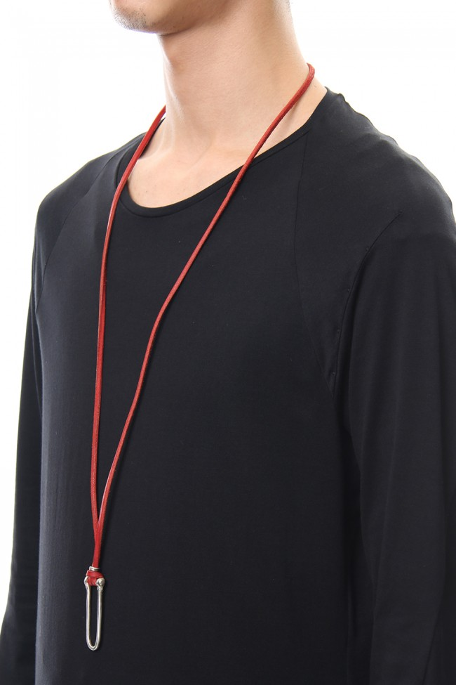 Spectacle holder necklace - io-03-084 Red